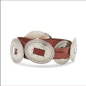 NWT REBECCA MINKOFF Anne Leather Concho Belt XL
